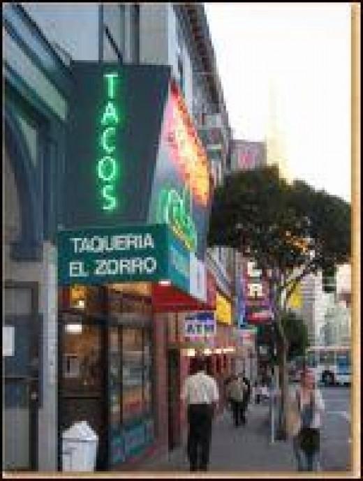 Taqueria Zorro in North Beach