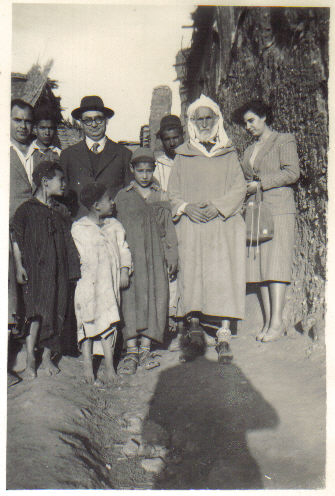 Benzion Katz in Morocco in his travels for the Jewish Agency