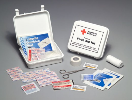 A well stocked first-aid kit is essential