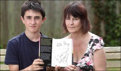 Jack and his Grandmother with message
