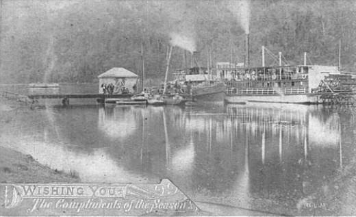 Here is a typical river steamer on the Hawkesbury River at the time.  Unable to obtain photo of SS Erringhi