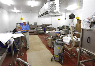The creamery processing plant provides jobs for students who attend BYU.