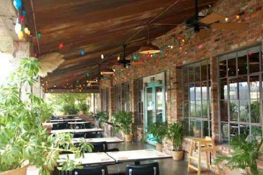 Outdoor seating at Phil Sandavol's Mexican Restaurante-Huntsville AL