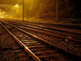 Is is possible to pick out a five pound note on a railway track