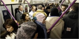 We've gone from red to silver but the trains are still as packed as ever