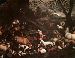 Evidence photo shows Noah hoarding animals onto ark.