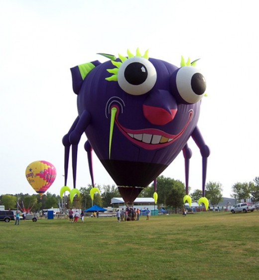 Hot Air Balloons at the Annual UFO Days-Fyffe AL