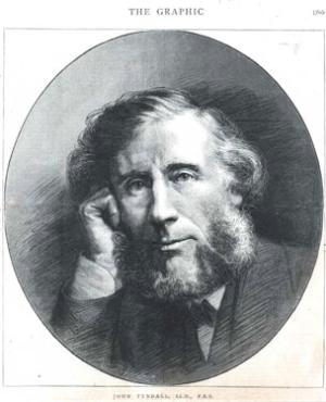 An informal portrait of John Tyndall.