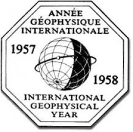 The International Geophysical Year logo.  Image courtesy NASA.