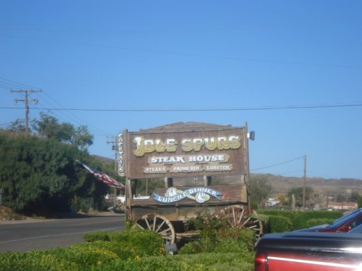 Make sure you watch for the sign outside, you certainly wouldn't want to miss stopping at Idle Spurs.
