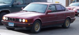 An E34 BMW 5 series. The 7 looked much the same inside and out.