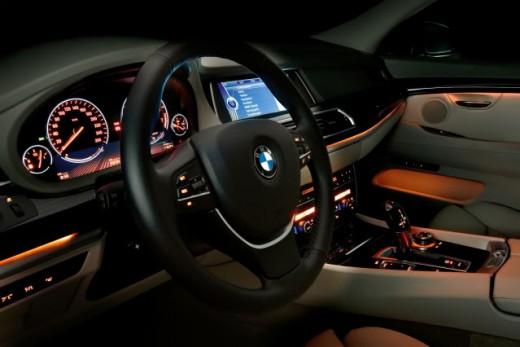 BMW 5 series interior.