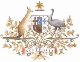 The Australian Coat of Arms features a Kangaroo and an Emu