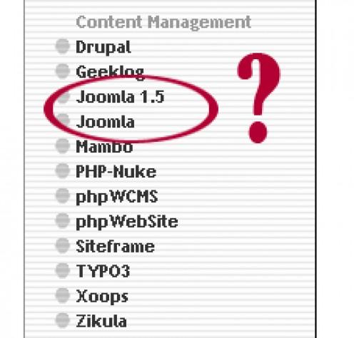 Joomla 1.0 vs 1.5