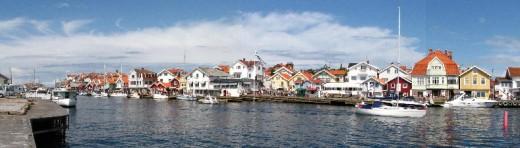View of smogen port