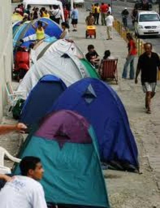 Camping in Brazil, virtually anywhere, but be careful