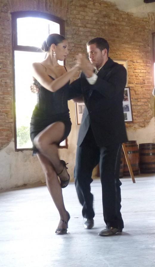 Dancing the Uruguayan Tango.