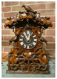 This is an 8 day double fusee cuckoo clock