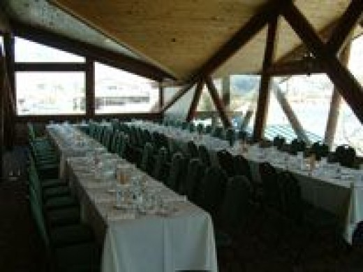 The Goble Lodge is an excellent place for large parties and banquets.