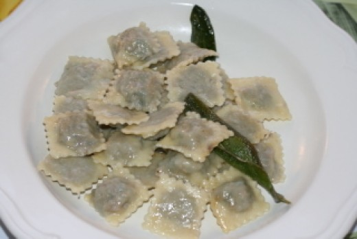 "Serve the agnolotti with ""burro salvia"""