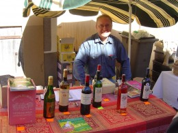 Noel Lepreux with his personal selection of fine wines