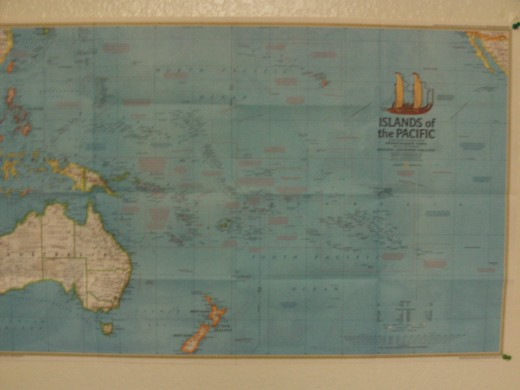Picture of a map of the Pacific Ocean.