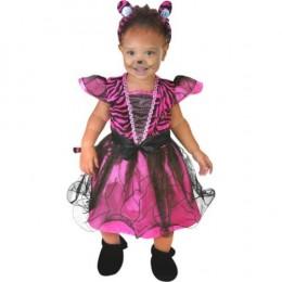 Child's Toddler Pink Tigress Dress Costume (6-18m)