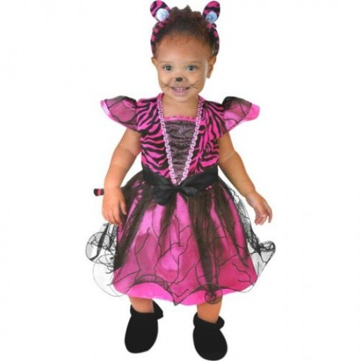 Child's Toddler Pink Tigress Dress Costume (6-18m)