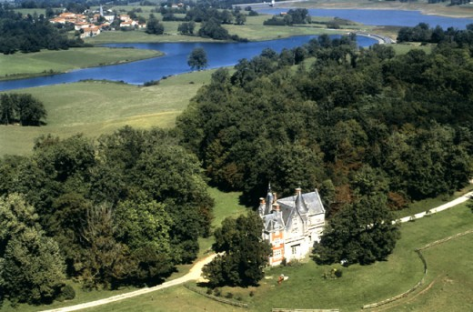 You get a wonderful view of the lakes as well as the chateau