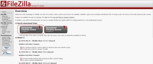 Diagram 1. Download the FileZilla FTP client.