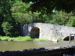 The ancient bridge opposite