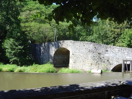 The ancient bridge opposite