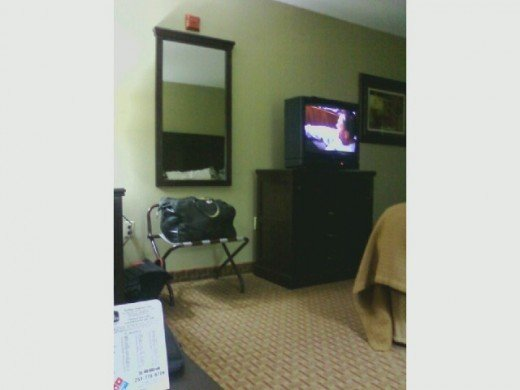 You can watch your 30 inch color TV in your room at the Best Western Motel.