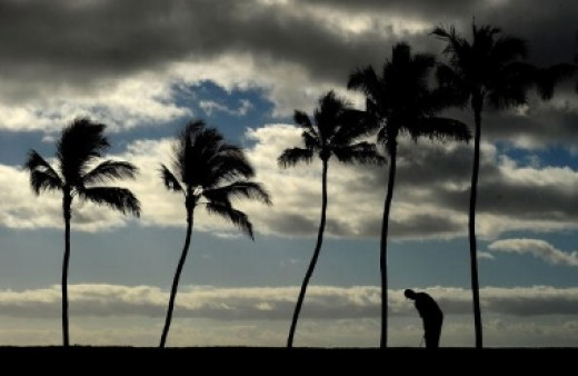 Golfing in Hawaii.