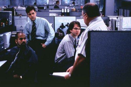 Ajay Naidu, Ron Livingston, Davis Herman and Richard Riehle in Office Space