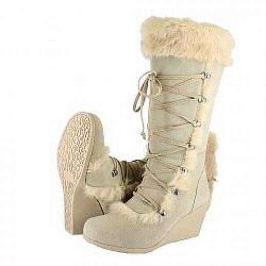 Kaska Rabbit Fur Boot