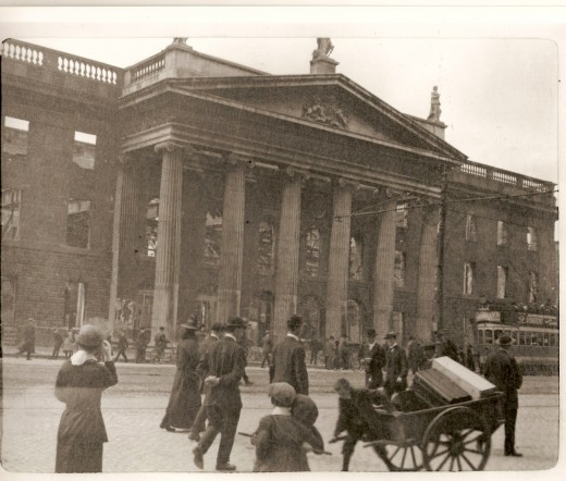 The GPO after the Easter Rising 1916