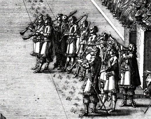 Detail,  Jean Le Pautre, La Pompeuse et Magnifique Ceremonie du sacre de Louis XIV