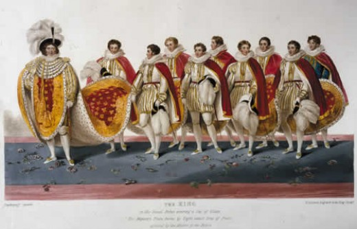 Depiction of coronation of George IV, 1821