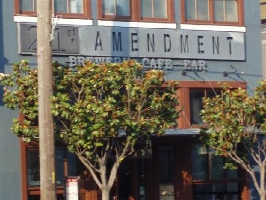 Outside 21st Amendment Brewery