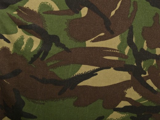 Camouflage is not limited to war, you can have camouflage bedding.