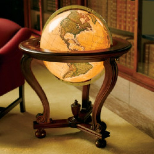 Lead crystal Everest Globe from hammacher.com