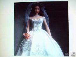 Faberge Barbie Doll in White Wedding Dress