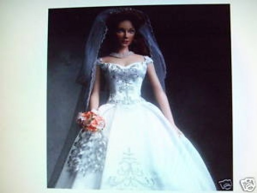 Faberge Barbie Doll in White Wedding Dress