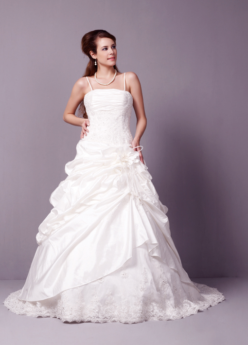 Remember getting married abroad your dress will be very hot so choose your fabrics wisely
