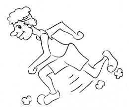 """Heck! I can run!"" (c) rembrandz.com"