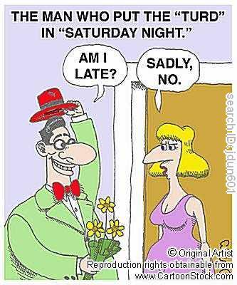 A bad start to a night from cartoonstock.com.