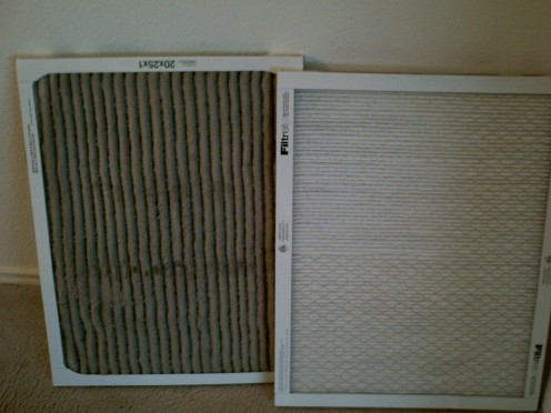 Dirty filter vs Clean filter