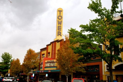 The Tower Theater on a rainy September afternoon (c) Stephanie Hicks