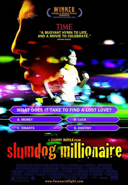 The official poster of Slumdog Millionaire